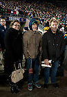 November 19, 2011; The singer Jon Bon Jovi watches Notre Dame's game against Boston College from the sidelines. Photo by Barbara Johnston/University of Notre Dame.