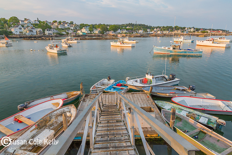 Evening light in the harbor in Stonington, Maine, USA