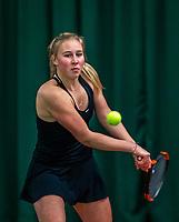 Wateringen, The Netherlands, December 4,  2019, De Rhijenhof , NOJK 14 and18 years, Amber Maatman (NED)<br /> Photo: www.tennisimages.com/Henk Koster