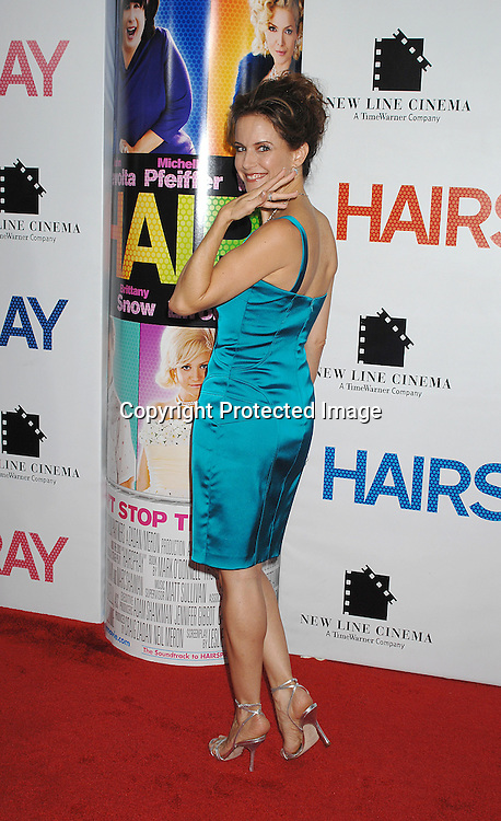 """Kelly Preston..arriving at the New York Premiere of """"Hairspray"""" on         July 16, 2007 at The Ziegfeld Theatre. ..Robin Platzer, Twin Images......212-935-0770"""