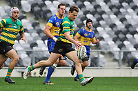 Finn Strawbridge of Green Island during the Dunedin Premier club rugby final between Green Island and Taieri played at Forsyth Barr Stadium in Dunedin, on Saturday 31st July, 2021. © John Caswell/Caswell Images