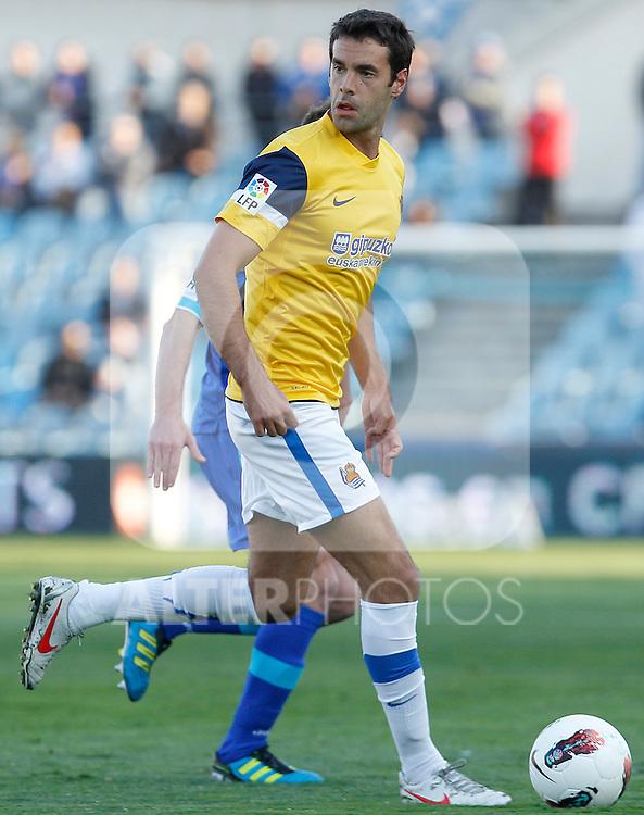 Real Sociedad's Xabi Prieto during La Liga match.March 17,2012. (ALTERPHOTOS/Acero)