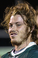 Dan Mugford of Nottingham Rugby after the Greene King IPA Championship match between London Scottish Football Club and Nottingham Rugby at Richmond Athletic Ground, Richmond, United Kingdom on 16 October 2015. Photo by David Horn.