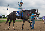 LOUISVILLE, KY - OCT 01: Tom's Ready, #3, ridden by Brian Hernadez Jr. and trained by Dallas Stewart wins the 24th running of the Grade 3 Ack Ack Stakes at Churchill Downs in Louisville, KY. (Photo by Samantha Bussanich/Eclipse Sportswire/Getty Images)