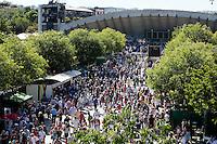 25-05-11, Tennis, France, Paris, Roland Garros, Vieuw towards court Susan Lenglen