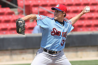 Jeremy Papelbon #31 of the Tennessee Smokies pitching during a game against the Carolina Mudcats on April 20, 2010 in Zebulon, NC.
