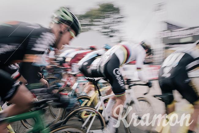 CX world champion Wout Van Aert (BEL/Crelan-Charles) speeding off the start line<br /> <br /> Super Prestige Ruddervoorde / Belgium 2017