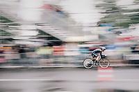 Carlos Betancur (COL/Movistar) speeding along<br /> <br /> 104th Tour de France 2017<br /> Stage 1 (ITT) - Düsseldorf › Düsseldorf (14km)