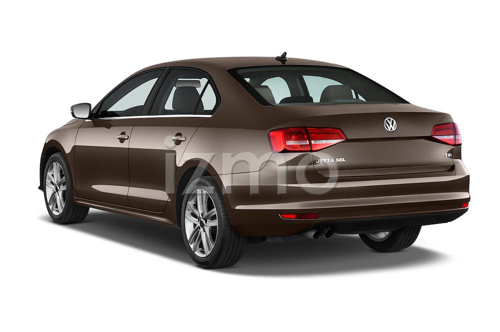 Car pictures of rear three quarter view of a 2015 Volkswagen Jetta 2.5L SEL 4 Door Sedan Angular Rear