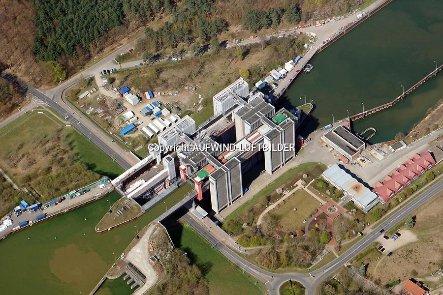 Schiffshebewerk Scharnebek:EUROPA, DEUTSCHLAND, NIEDERSACHSEN 16.04.2019: Schiffshebewerk Scharnebek