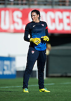 Hope Solo.  The USWNT defeated Brazil, 4-1, at an international friendly at the Florida Citrus Bowl in Orlando, FL.