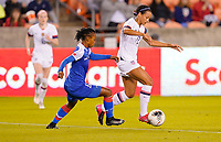 HOUSTON, TX - JANUARY 28: Lynn Williams #13 of the United States moves with the ball during a game between Haiti and USWNT at BBVA Stadium on January 28, 2020 in Houston, Texas.