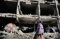 Mogadishu/Somalia 2012 - Many IDP move into the ruins of the city in search for a shelter.