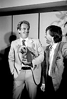 May 6, 1985 File Photo -  News conference for the movie HOLD UP ( a French-Quebec co production shot in Montreal) with actor Jean-Paul Belmondo and Alexandre Arcady, filmaker
