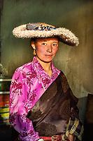 Jyekundo, Tibet 2006. Tibetan woman in hat, 2006