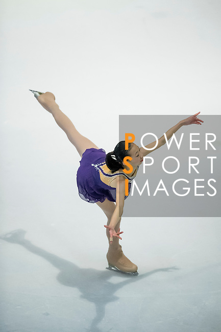 Hiu Ching Kwong competes during the Asian Junior Figure Skating Challenge 2015 on October 07, 2015 at the Festival Walk Mall in Hong Kong, China. Photo by Aitor Alcalde/ Power Sport Images