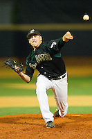 Relief pitcher John Hamilton #37 of the Charlotte 49ers in action against the Wake Forest Demon Deacons at Gene Hooks Field on March 22, 2011 in Winston-Salem, North Carolina.   Photo by Brian Westerholt / Four Seam Images