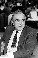 Montreal (Qc) CANADA - 1987 File Photo - - New Democratic Party (NDP) Convention  - - Ed Broadbent<br /> <br /> PHOTO :  Agence Quebec Presse
