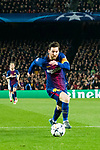 Lionel Andres Messi of FC Barcelona in action during the UEFA Champions League 2017-18 Round of 16 (2nd leg) match between FC Barcelona and Chelsea FC at Camp Nou on 14 March 2018 in Barcelona, Spain. Photo by Vicens Gimenez / Power Sport Images