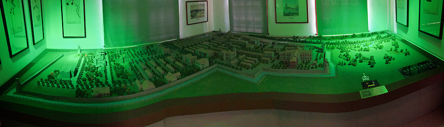 Panorama of the Camp model exhibit.