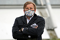 15th May 2020, Muenchen-Riem racecourse, Munich, Germany. Flat racing;  Trainer Werner Glanz wearing protective mask