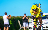 17th July 2021, St Emilian, Bordeaux, France;  POGACAR Tadej (SLO) of UAE TEAM EMIRATES during stage 20 of the 108th edition of the 2021 Tour de France cycling race, an individual time trial stage of 30,8 kms between Libourne and Saint-Emilion.