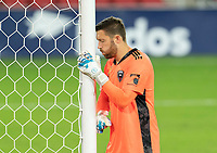 WASHINGTON, DC - SEPTEMBER 06: Chris Seitz #1 of D.C. United takes a moment at the start of the second half during a game between New York City FC and D.C. United at Audi Field on September 06, 2020 in Washington, DC.