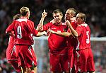 Wales celebrate after Aron Ramsey equalises for Wales. England U21 V Wales U21, Uefa European U21 Championship qualifying play-off second leg © Ian Cook IJC Photography iancook@ijcphotography.co.uk www.ijcphotography.co.ukUnholy Alliance Tour 2008,