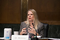Dr. Kathleen J. McInnis, Specialist In International Security, Congressional Research Service, appears before a Senate Committee on the Armed Services hearing to examine civilian control of the Armed Forces, in the Dirksen Senate Office Building in Washington, DC, Tuesday, January 12, 2021. <br /> CAP/MPI/RS<br /> ©RS/MPI/Capital Pictures