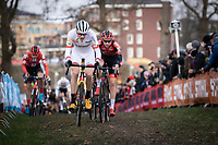 World Cup GC Leader Toon Aerts (BEL/Telenet Baloise Lions) and  Michael Vanthourenhout (BEL/Pauwels Sauzen - Bingoal)<br /> <br /> Men Elite Race<br /> UCI Cyclocross Worldcup – Hoogerheide (Netherlands)<br /> <br /> ©kramon