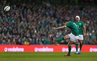 Saturday 2nd February 2019 | Ireland vs England<br /> <br /> Johnny Sexton converts during the opening Guinness 6 Nations clash between Ireland and England at the Aviva Stadium, Lansdowne Road, Dublin, Ireland.  Photo by John Dickson / DICKSONDIGITAL