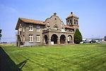 Old Spanish Revival Railroad Depot now an Elks Lodge Alturas California