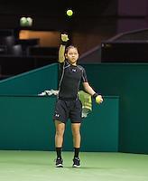 Rotterdam, The Netherlands, Februari 8, 2016,  ABNAMROWTT, Ball Girl<br /> Photo: Tennisimages/Henk Koster