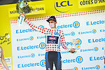Mathieu Van Der Poel (NED) Alpecin-Fenix wins Stage 2 and also takes over the mountains Polka Dot Jersey of the 2021 Tour de France, running 183.5km from Perros-Guirec to Mur-de-Bretagne Guerledan, France. 27th June 2021.  <br /> Picture: A.S.O./Charly Lopez   Cyclefile<br /> <br /> All photos usage must carry mandatory copyright credit (© Cyclefile   A.S.O./Charly Lopez)