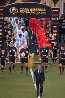 Photo before the match Argentina vs Chile corresponding to the Final of America Cup Centenary 2016, at MetLife Stadium.<br /> <br /> Foto previo al partido Argentina vs Chile cprresponidente a la Final de la Copa America Centenario USA 2016 en el Estadio MetLife , en la foto:Selecciones de Argentina y Chile<br /> <br /> <br /> 26/06/2016/MEXSPORT/JAVIER RAMIREZ
