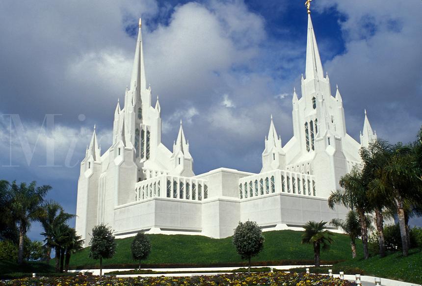 temple, Mormon, church, La Jolla, California, CA, Mormon Temple of California San Diego in La Jolla.