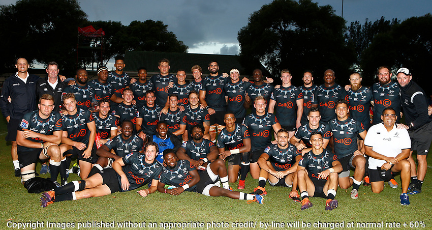 The Sharks team after the preseason rugby match between The Cell C Sharks and Russia at Jonsson Kings Park Stadium in Durban, South Africa on Friday, 10 January 2020. Photo: Steve Haag / stevehaagsports.com
