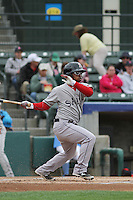 Salem Red Sox outfielder Matty Johnson #2 at bat during a game against the Myrtle Beach Pelicans at Ticketreturn.com Field at Pelicans Ballpark on April 6, 2014 in Myrtle Beach, South Carolina. Salem defeated Myrtle Beach 3-0. (Robert Gurganus/Four Seam Images)