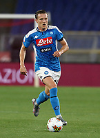 Napoli's Piotr Zielinski in action during the Italian Cup football final match between Napoli and Juventus at Rome's Olympic stadium, June 17, 2020. Napoli won 4-2 at the end of a penalty shootout following a scoreless draw.<br /> UPDATE IMAGES PRESS/Isabella Bonotto