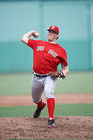 Boston Red Sox pitcher Ty Buttrey (66) during an Instructional League game against the Minnesota Twins on September 23, 2016 at JetBlue Park at Fenway South in Fort Myers, Florida.  (Mike Janes/Four Seam Images)