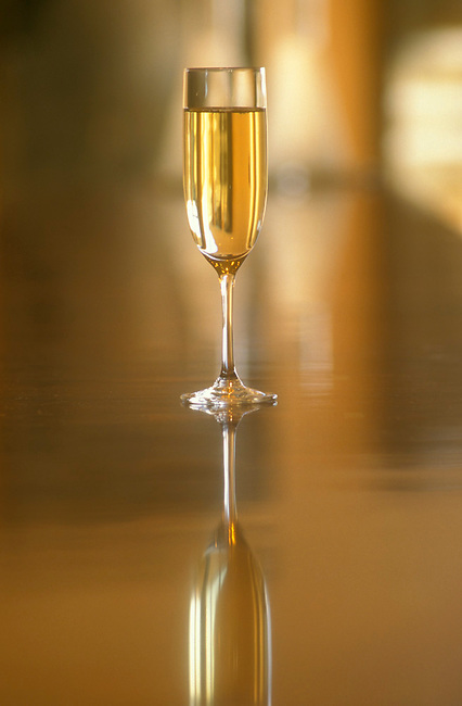 Glass of sparkling wine