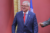 Luc Blanchette is sworn in as Ministre des Forets, de la Faune et des Parcs (Minister of Forests, Wildlife and Parks) of the new Liberal cabinet at the National Assembly in Quebec city October 11, 2017.<br /> <br /> PHOTO :  Francis Vachon - Agence Quebec Presse