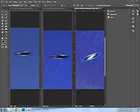 Inverted tonal range of each frame, vertical format.