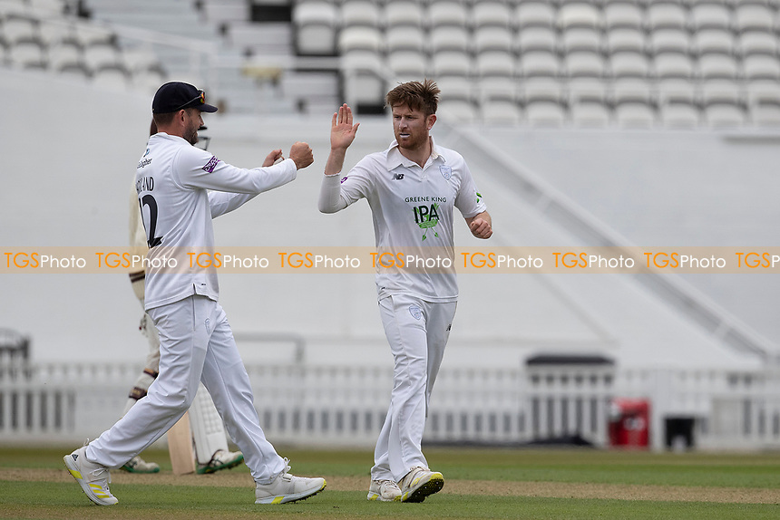 Liam Dawson of Hampshire CCC celebrates the wicket of Rory Burns during Surrey CCC vs Hampshire CCC, LV Insurance County Championship Group 2 Cricket at the Kia Oval on 30th April 2021