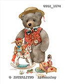 GIORDANO, CUTE ANIMALS, LUSTIGE TIERE, ANIMALITOS DIVERTIDOS, Teddies, paintings+++++,USGI1074,#AC# teddy bears