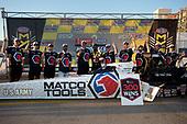 31 March - 2 April, 2017, Las Vegas, Nevada USA, Antron Brown, Matco Tools, Top Fuel Dragster, winner, trophy, celebration © 2017, Jason Zindroski