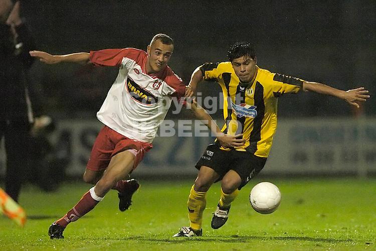 veendam - fc dordrecht jupiler league seizoen 2007-2008 17-09-2007  cruz vicente in duel