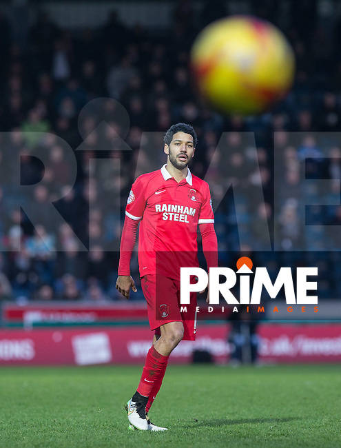 Jobi McAnuff of Leyton Orient during the Sky Bet League 2 match between Wycombe Wanderers and Leyton Orient at Adams Park, High Wycombe, England on 23 January 2016. Photo by Andy Rowland / PRiME Media Images.