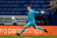 Bolton Wanderers' goalkeeper/coach Matthew Gilks kick clear<br /> <br /> Photographer Andrew Kearns/CameraSport<br /> <br /> The EFL Sky Bet League Two - Bolton Wanderers v Salford City - Friday 13th November 2020 - University of Bolton Stadium - Bolton<br /> <br /> World Copyright © 2020 CameraSport. All rights reserved. 43 Linden Ave. Countesthorpe. Leicester. England. LE8 5PG - Tel: +44 (0) 116 277 4147 - admin@camerasport.com - www.camerasport.com