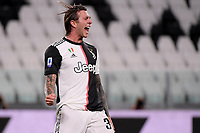 Federico Bernardeschi of Juventus celebrates after scoring the goal of 2-0 during the Serie A football match between Juventus FC and UC Sampdoria at Juventus stadium in Turin (Italy), July 26th, 2020. Play resumes behind closed doors following the outbreak of the coronavirus disease. <br /> Photo Federico Tardito / Insidefoto
